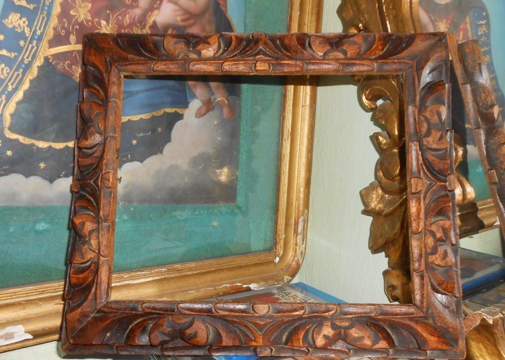 Bonito Y Antiguo Marco Cuadro Madera Tallada Cedro - $ 450.00 en ...