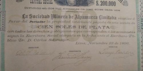 bono 100 soles de plata, minera alpamarca