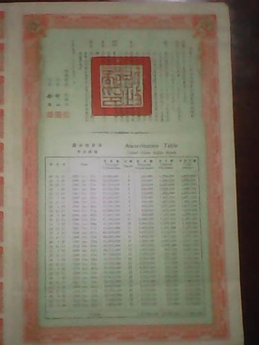 bono chino gold loan  1938