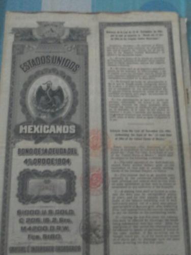bono de la deuda del 4% oro de 1904