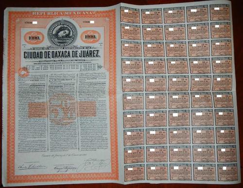 bono del estado de oaxaca de juarez, de 1000
