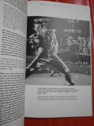 bono - in his own words - impecable!!!