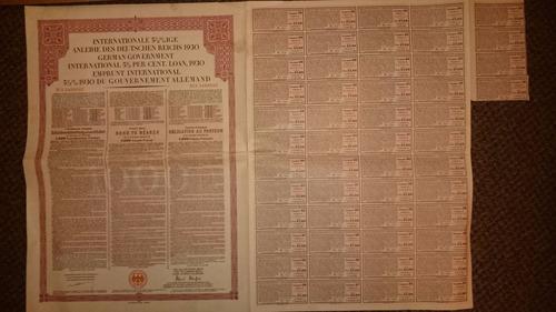 bonos alemanes: 1930 de 1000 francos franceses