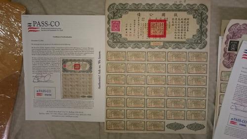 bonos chinos escalera liberty al 1000. 5 piezas enteras.