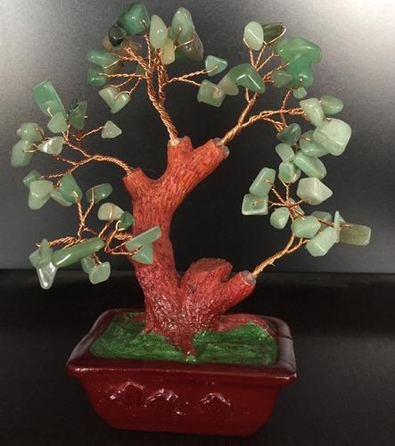 bonsai árbol cuarzo verde prosperidad paz éxito-feng shui