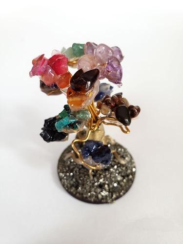 bonsai arbolito cuarzo y pirita equilibrio felicidad amuleto