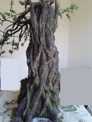 bonsai artificial 80cm cimento para dentro ou fora de casa