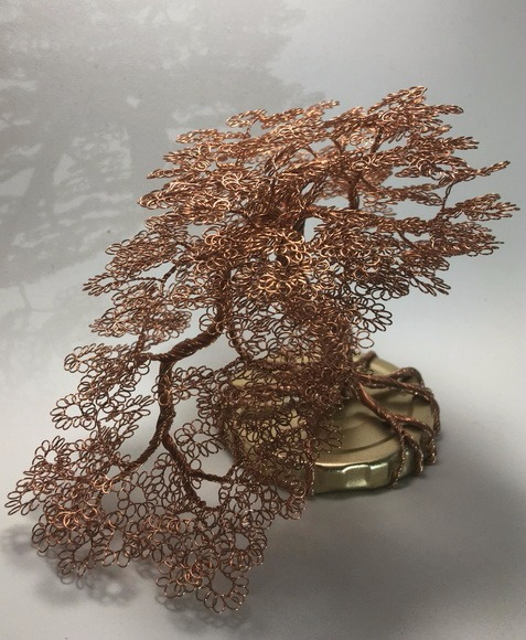 Adesivo De Estradiol ~ Bonsai De Arame escultura DeÁrvore Em Arame Arte Em Cobre R$ 110,00 em Mercado Livre