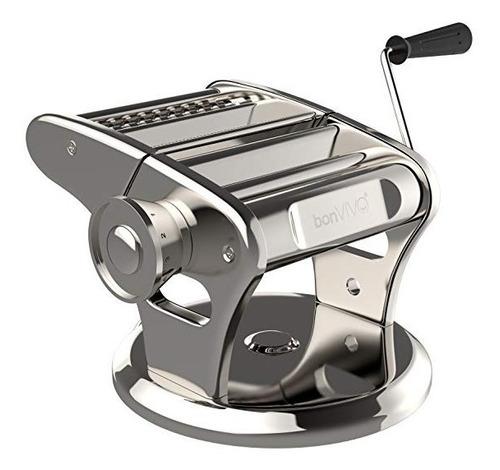 bonvivo pasta mia máquina hacer pasta acero inoxidable + aca