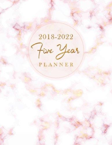 book : 2018-2022 five year planner elegant marble 60 months.