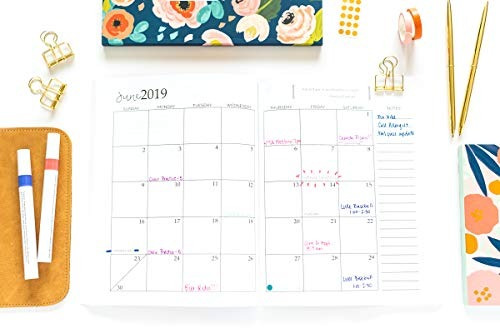 book : 2019 planner weekly and monthly calendar sched (9427)
