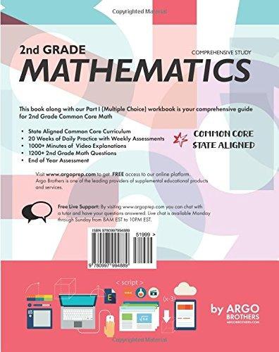 Book : Argo Brothers Math Workbook, Grade 2 Common Core Free