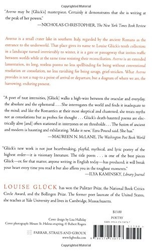Book Averno Poems Louise Gluck