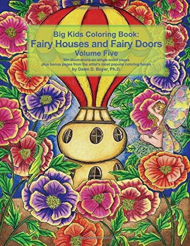 book : big kids coloring book fairy houses and fairy doors..