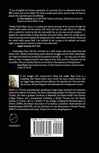 binge crazy a psychotherapists memoir of food addiction mental illness obesity and recovery