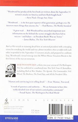 book : bush at war - bob woodward