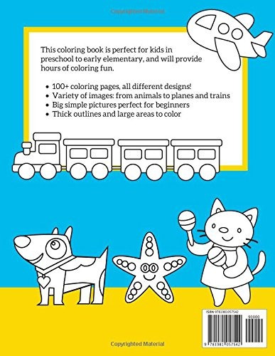 book : coloring book for kids 100+ coloring pages, hours of.