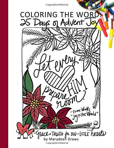 book : coloring the word 25 days of advent joy - draws,...