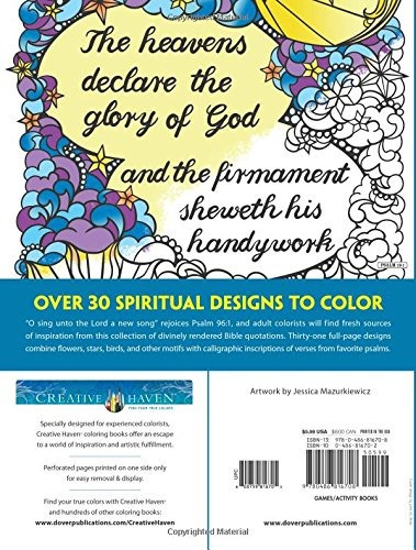 book : creative haven psalms coloring book (adult coloring).