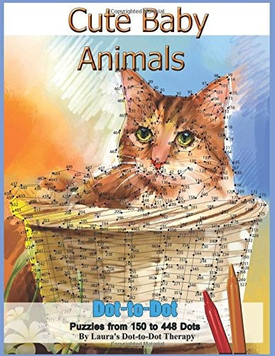book : cute baby animals - dot-to-dot puzzles from 150-448..
