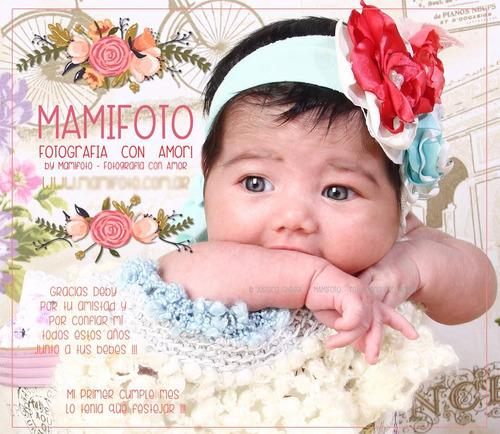 book de bebe, sesion fotografica estudio primer cumpleaños