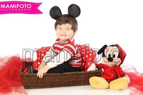 book de fotos minnie mini mickey mouse cumpleaños para nena