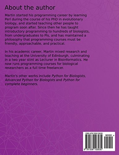 Book : Effective Python Development For Biologists Tools And