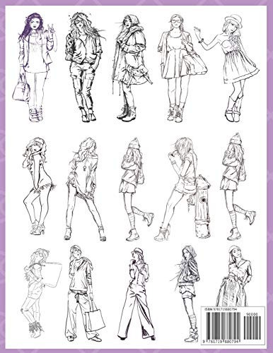 book : fashion coloring book 100 pages with 20 differ (0794)