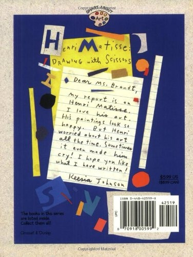 book : henri matisse: drawing with scissors (smart about ...
