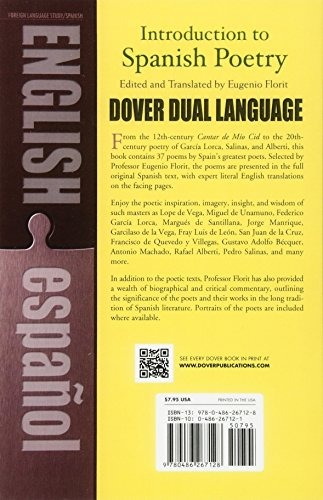 Book Introduction To Spanish Poetry A Dual Language Bo