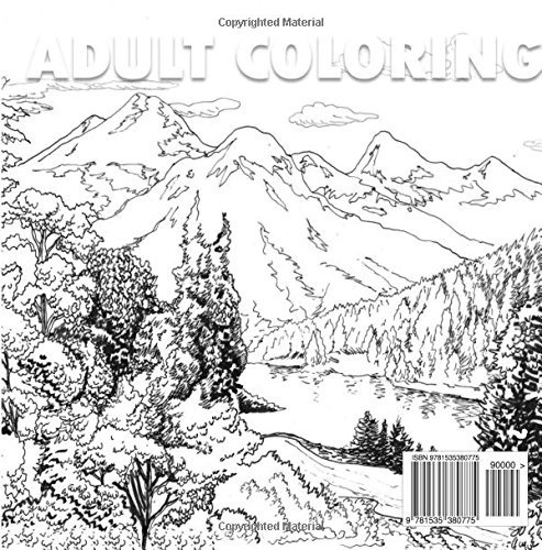 book : landscapes creative nature inspired scenes for adult.