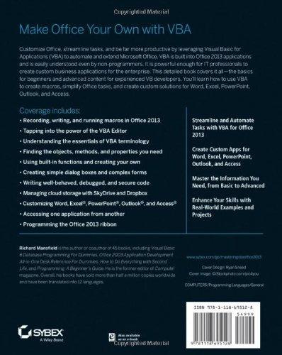 Download e-book Mastering VBA for Microsoft Office 2013