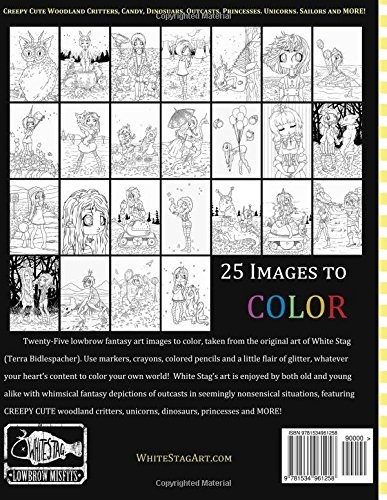 book : misfits a coloring book for adults and odd chi (1258)
