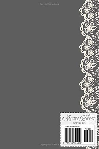 book : p monogrammed journal vintage lace with monogram...