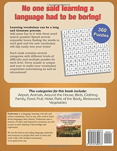 Book : Parleremo Languages Word Search Puzzles Spanish -