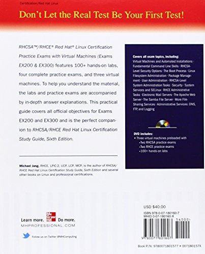 Book : Rhcsa/rhce Red Hat Linux Certification Practice Exams