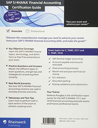 Book : Sap S/4hana Financial Accounting Certification Guide