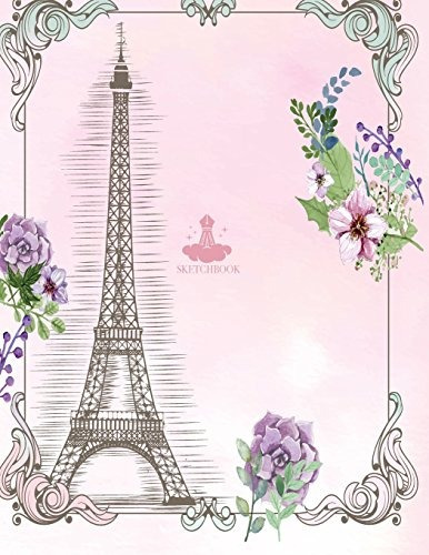 book : sketch book paris cover (8.5 x 11)  inches 110 pages,