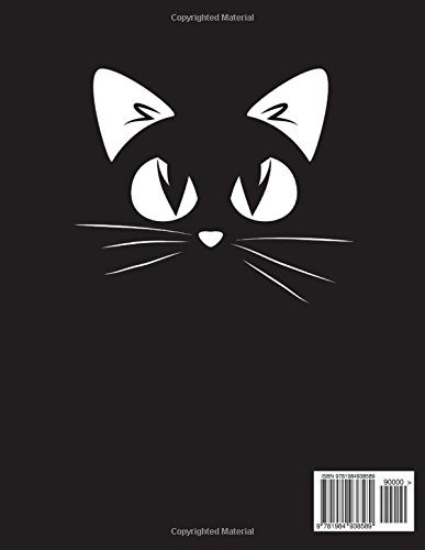 book : sketchbook sketchbook black cat cute  sketchbook, 8.5
