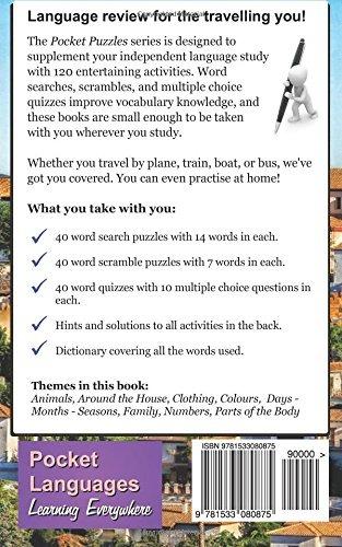 Book : Spanish Pocket Puzzles - The Basics - Volume 2: A