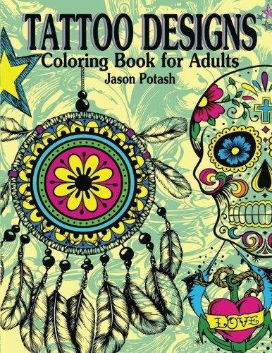 book : tattoo designs coloring book for adults (the stress..