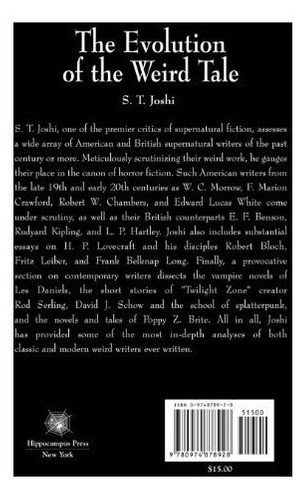 book : the evolution of the weird tale - s. t. joshi