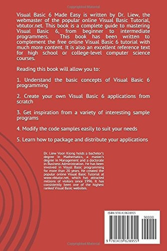 Book : Visual Basic ® 6 Made Easy A Complete Tutorial For