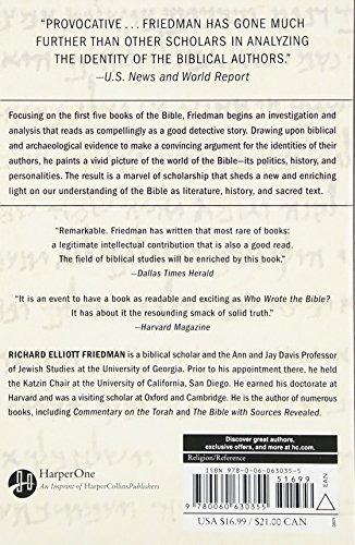 Book : Who Wrote The Bible? - Richard Elliott Friedman