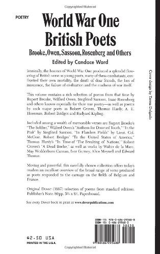 Book World War One British Poets Brooke Owen Sassoon