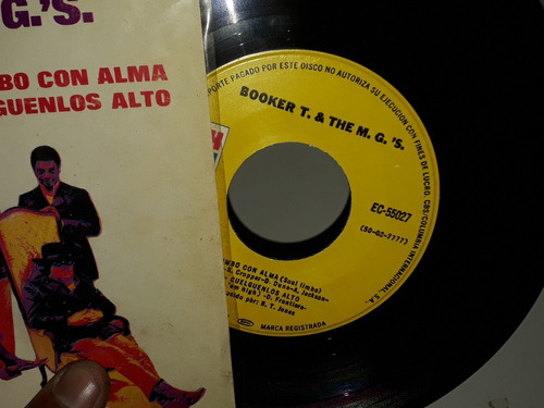 booker t.& the m.g.'s. el tiempo apremia simple en vinilo