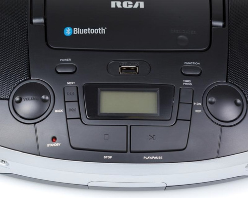 boombox radio fm,usb,aux in,cd,bluetooth rcd108bt marca rca