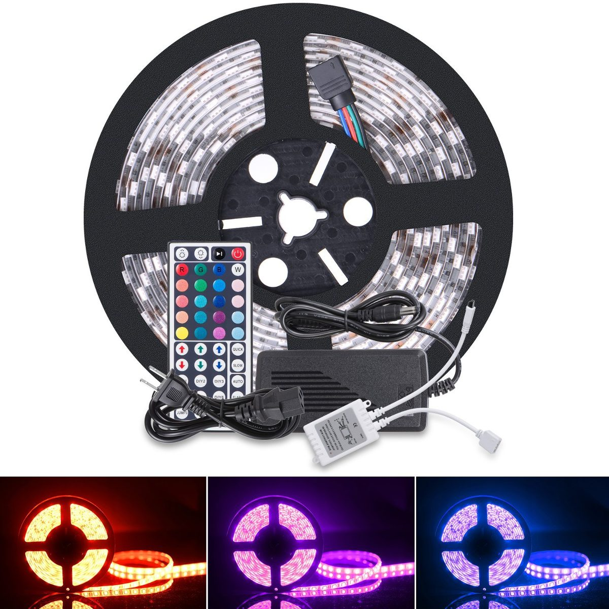 Boomile 164ft 12v flexible led light strip led tape rgb 3 cargando zoom aloadofball Images