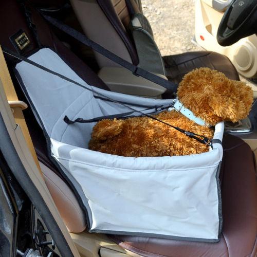 booster asiento auto mascota perro gato portador... (grey)