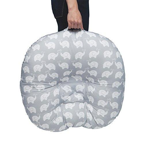 boppy newborn lounger, elephant love grey